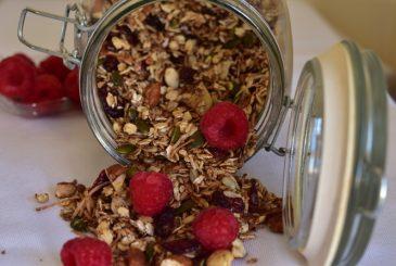 Vegan toasted nut and cranberry muesli - vegan breakfast recipes
