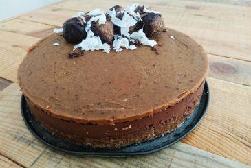 Vegan Raw Chocolate Caramel Cheesecake